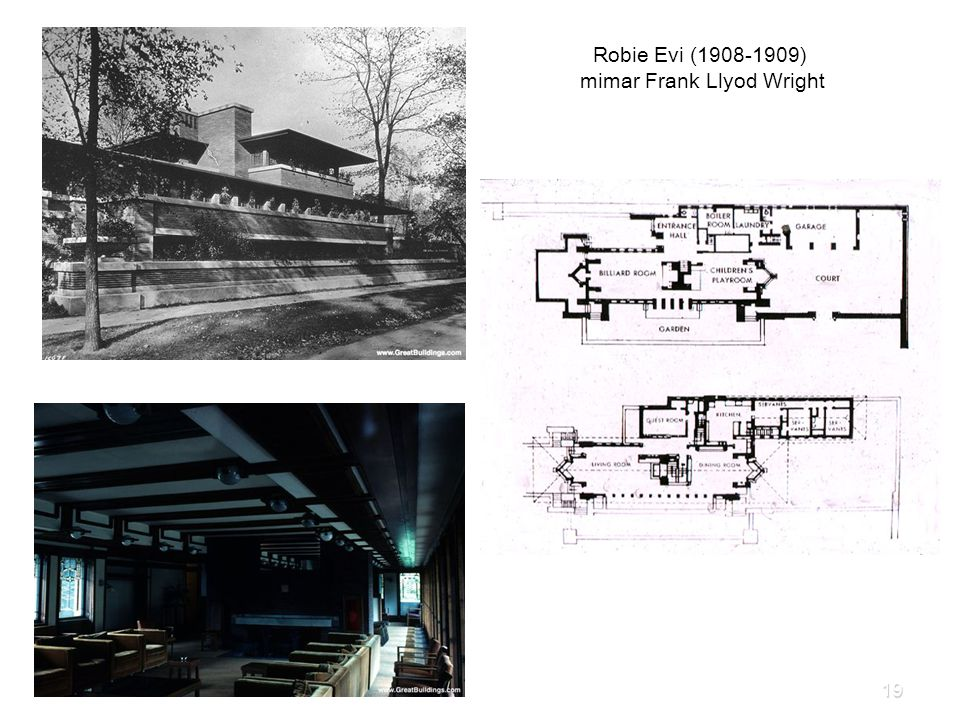 Robie Evi (1908-1909) mimar Frank Llyod Wright