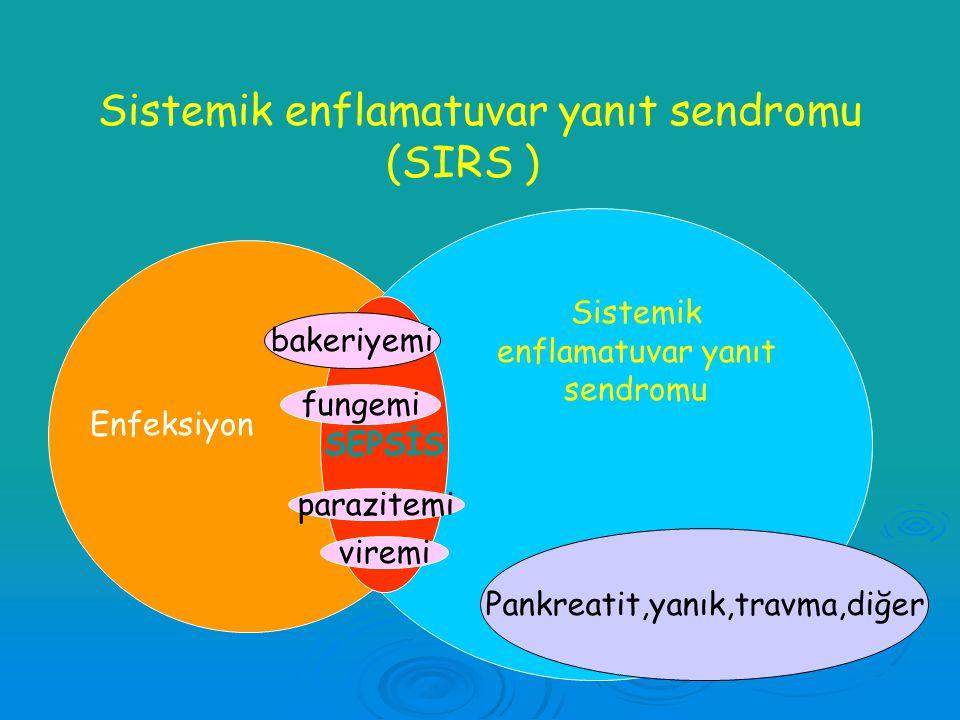 Sistemik enflamatuvar yanıt sendromu (SIRS )