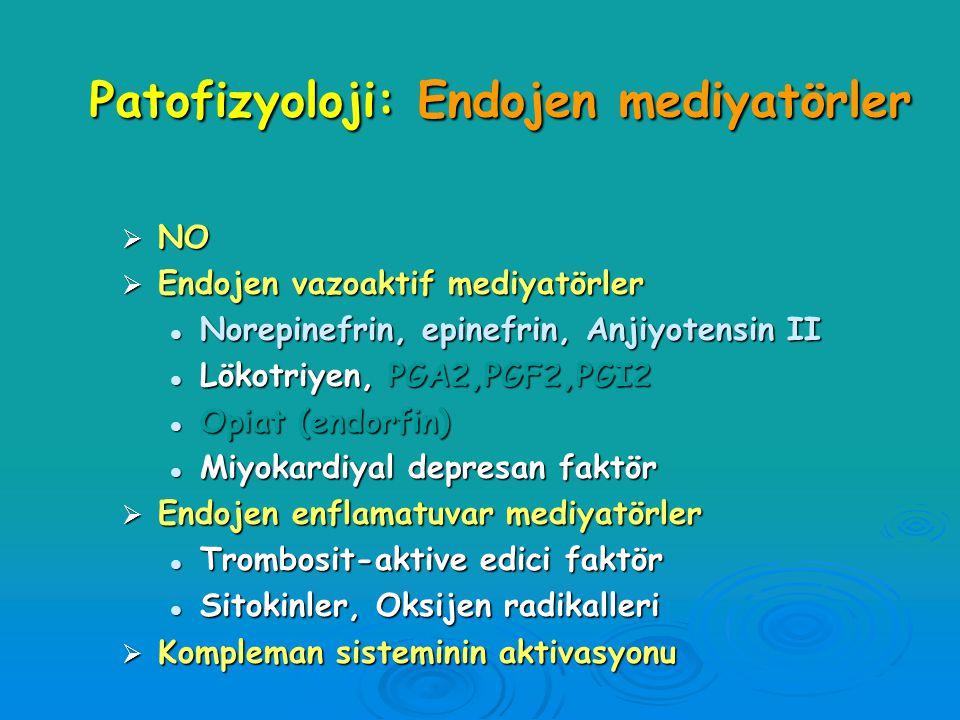 Patofizyoloji: Endojen mediyatörler