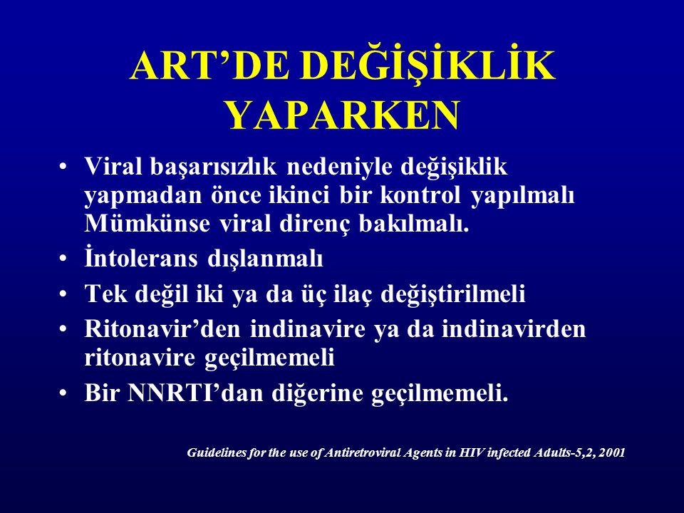 ART'DE DEĞİŞİKLİK YAPARKEN