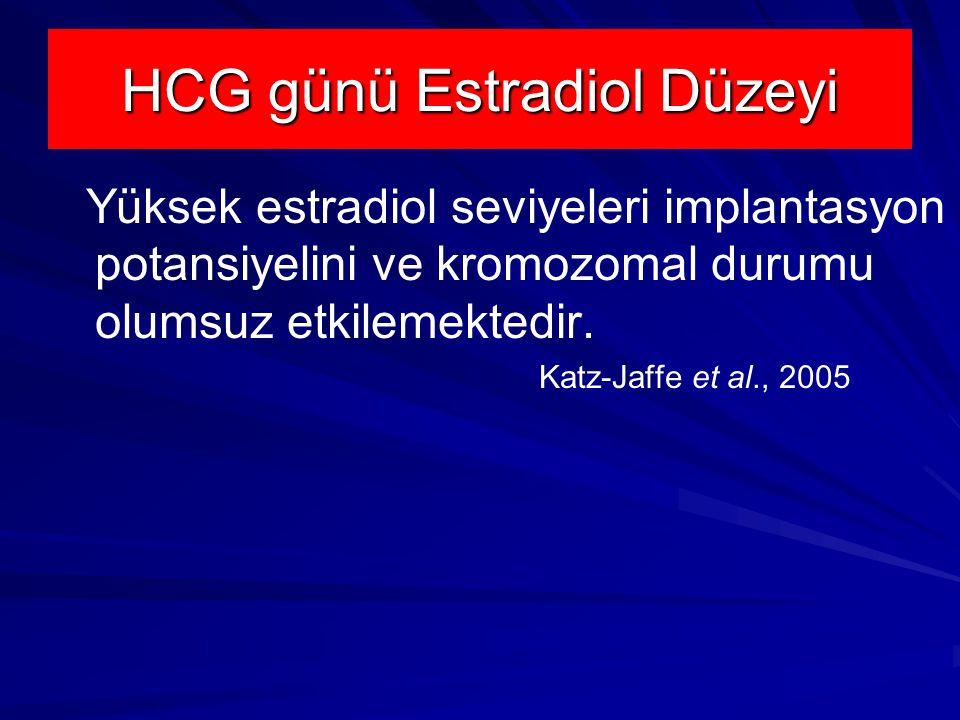 HCG günü Estradiol Düzeyi
