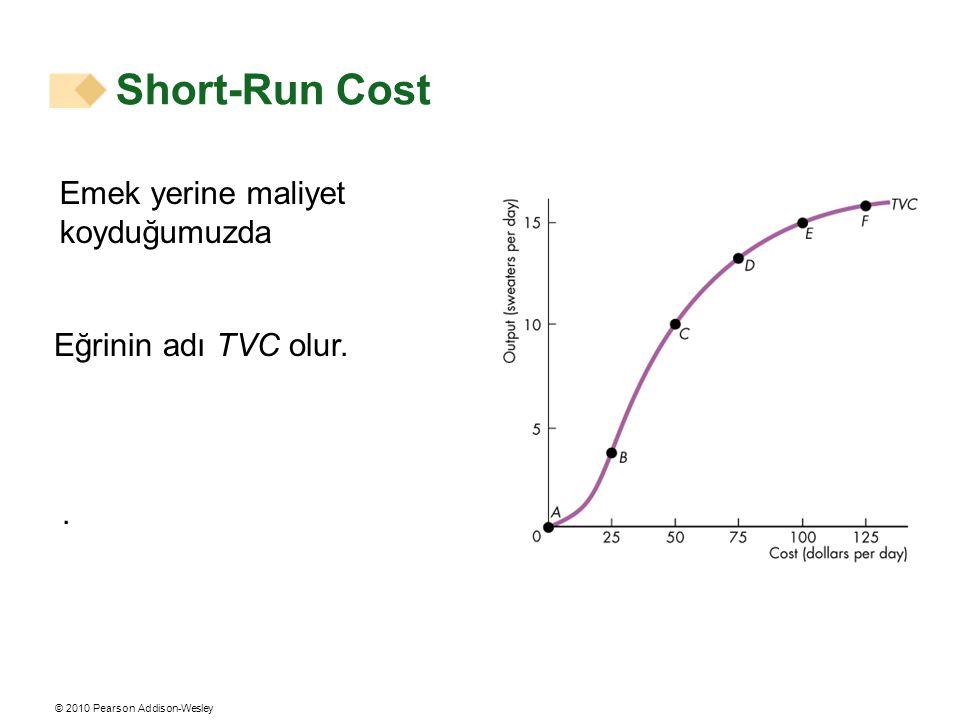 Short-Run Cost Emek yerine maliyet koyduğumuzda Eğrinin adı TVC olur.
