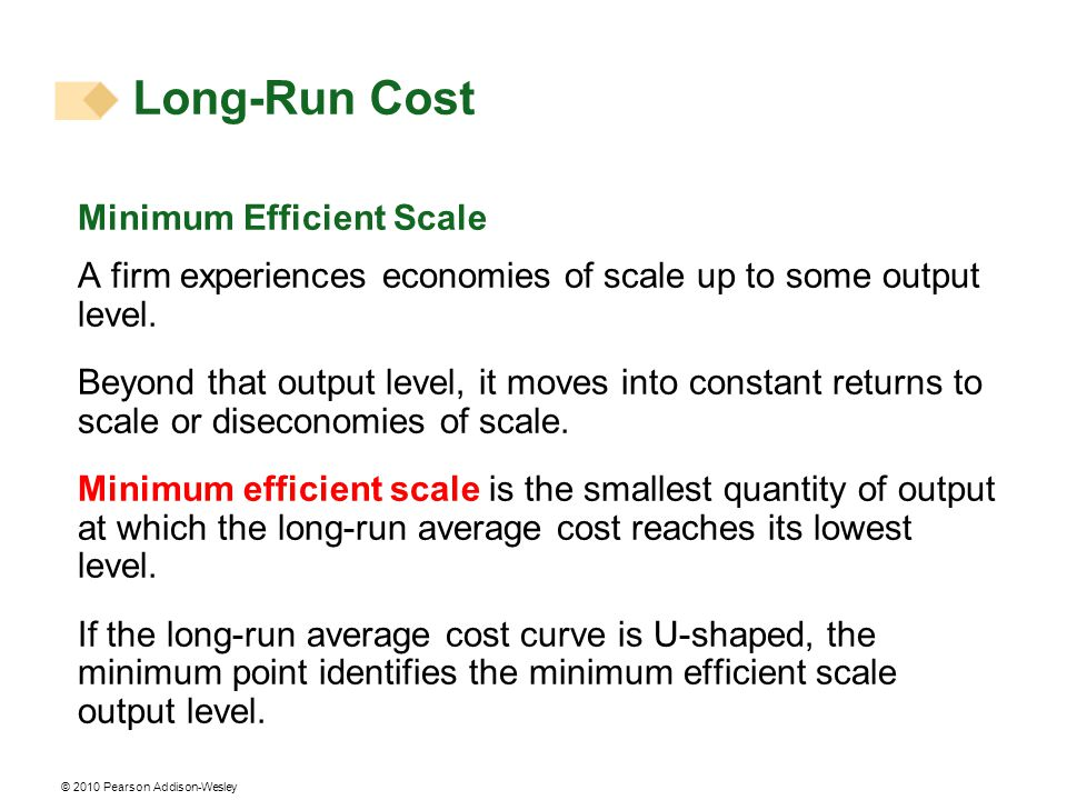 Long-Run Cost Minimum Efficient Scale