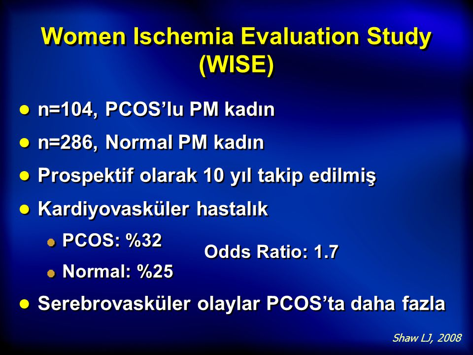 Women Ischemia Evaluation Study (WISE)