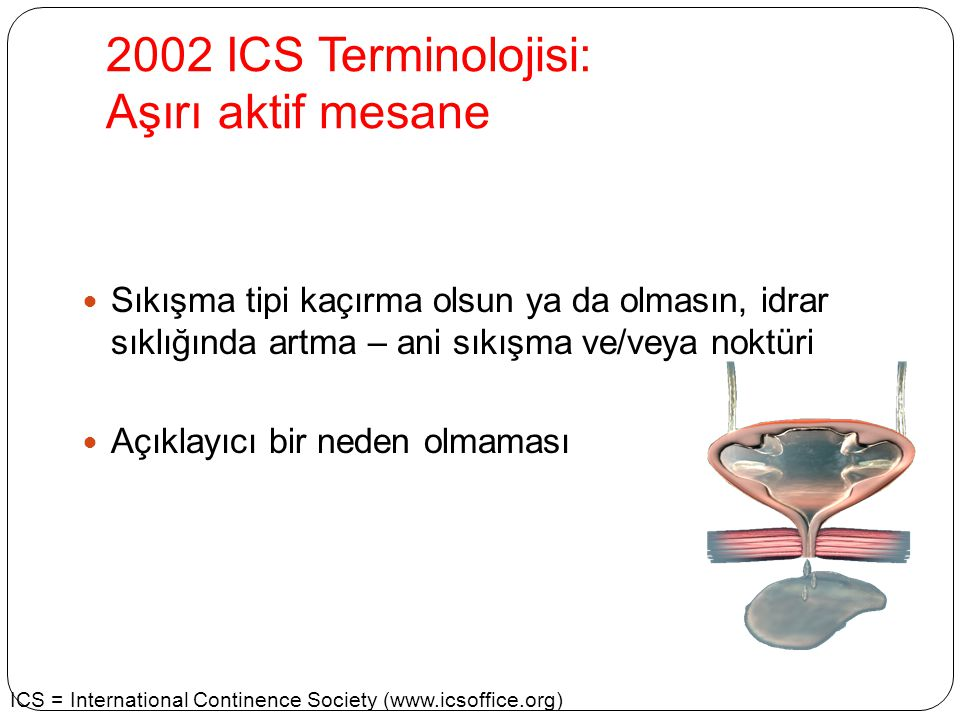 2002 ICS Terminolojisi: Aşırı aktif mesane