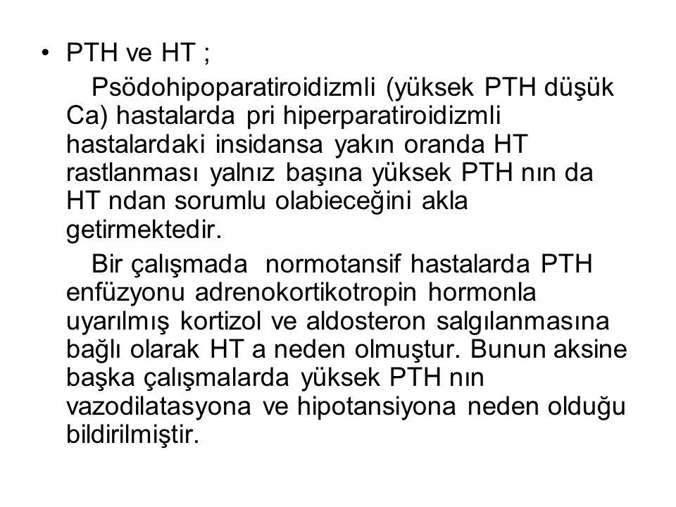 PTH ve HT ;