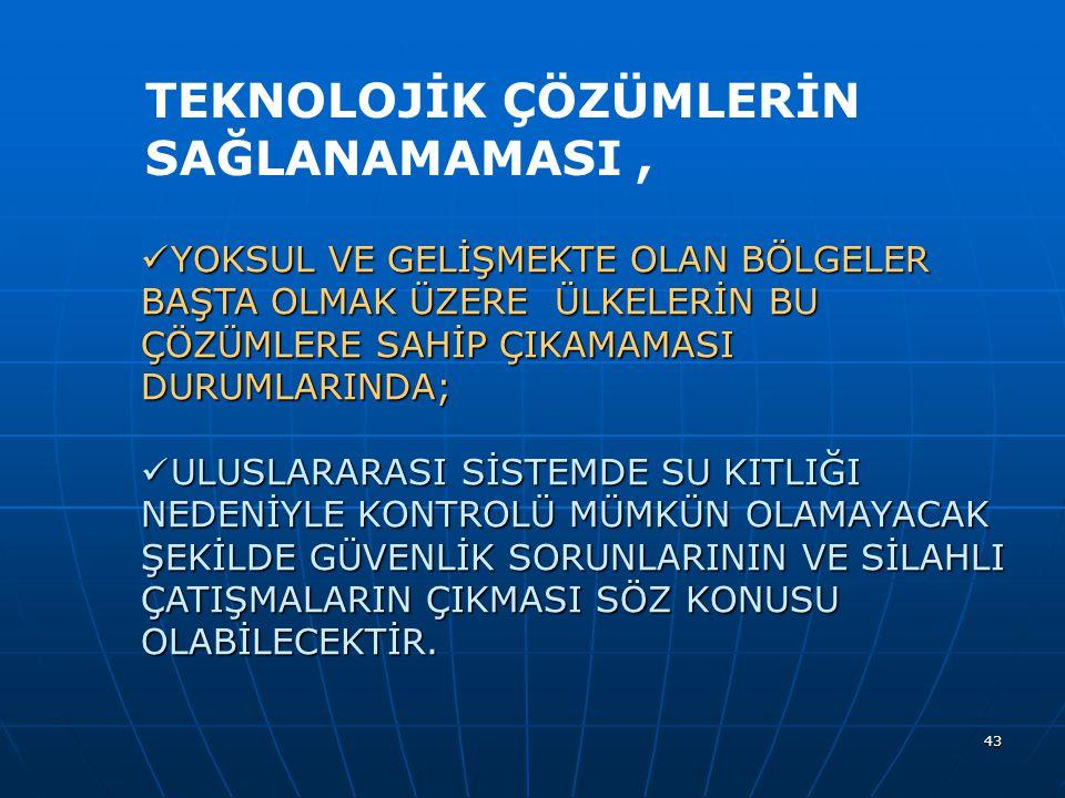 TEKNOLOJİK ÇÖZÜMLERİN SAĞLANAMAMASI ,
