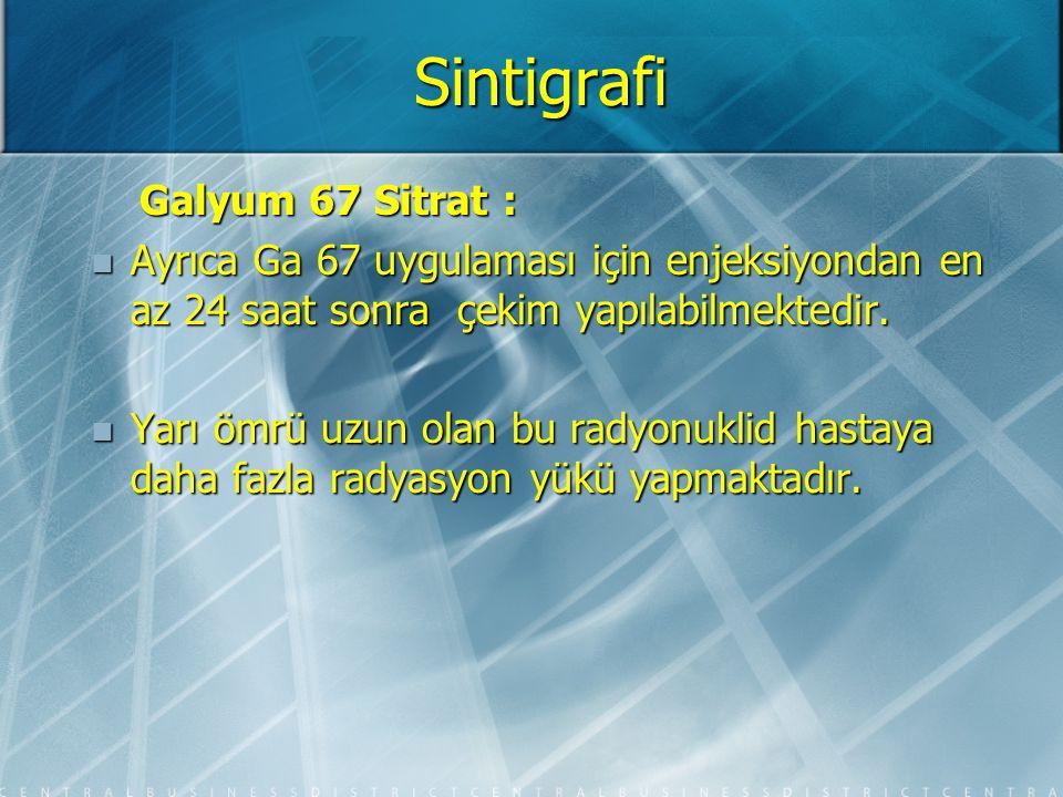 Sintigrafi Galyum 67 Sitrat :