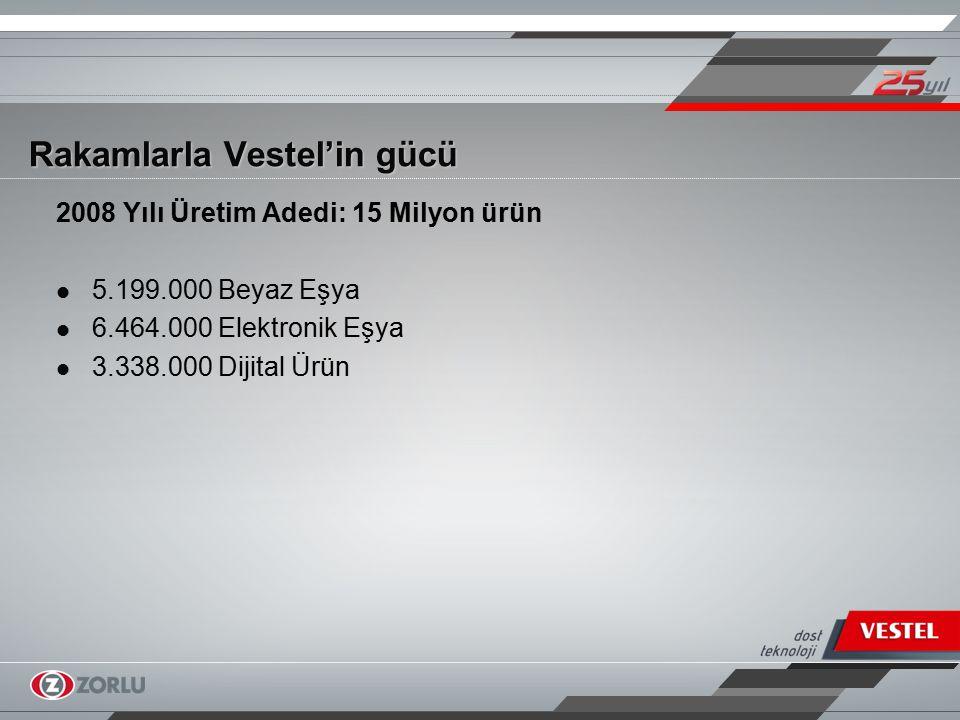 Rakamlarla Vestel'in gücü