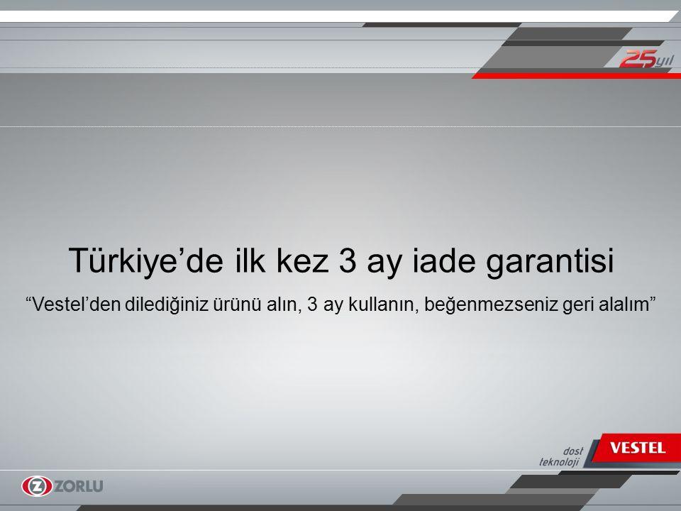Türkiye'de ilk kez 3 ay iade garantisi