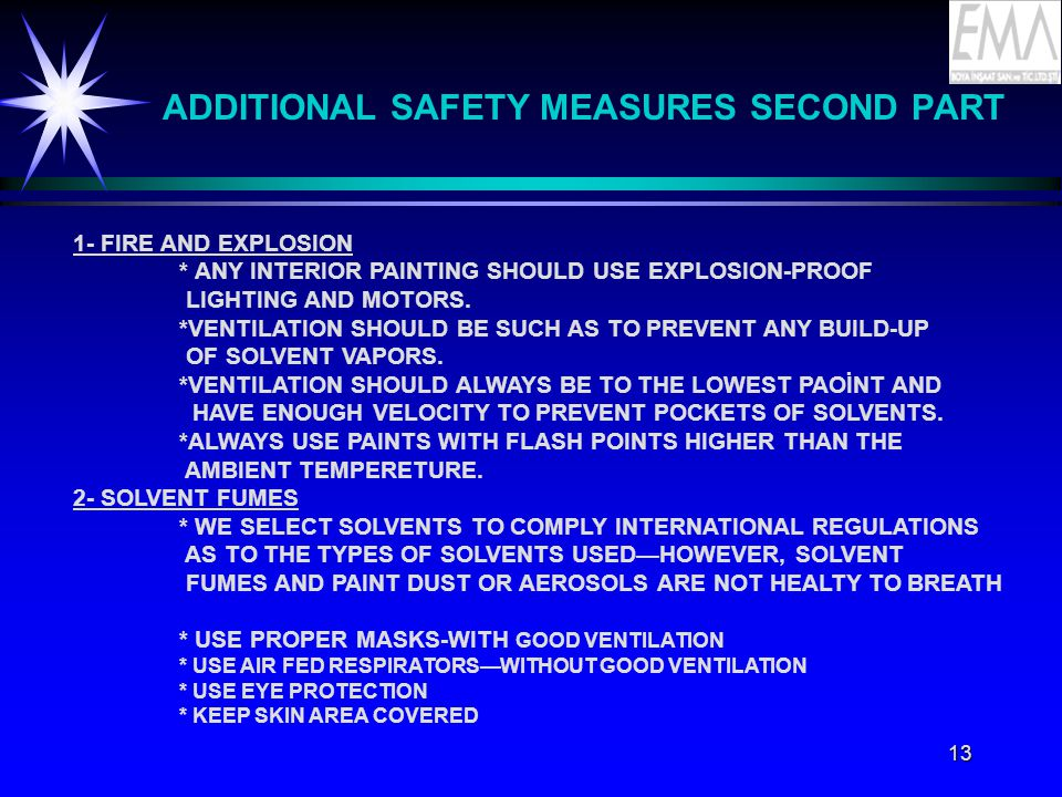 ADDITIONAL SAFETY MEASURES SECOND PART