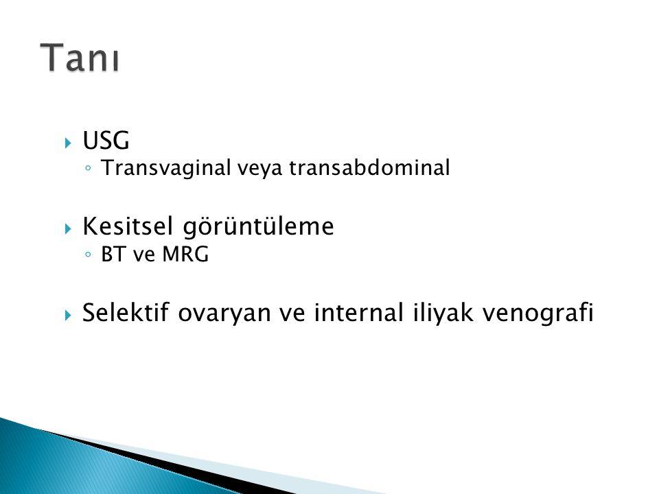 Tanı USG Kesitsel görüntüleme