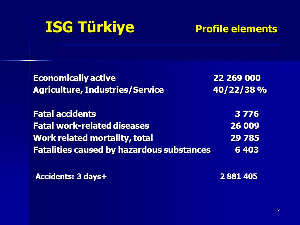 ISG Türkiye Profile elements