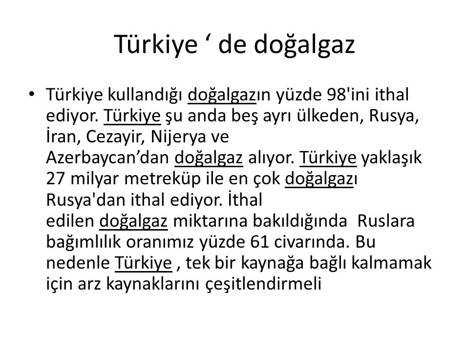 Türkiye ' de doğalgaz