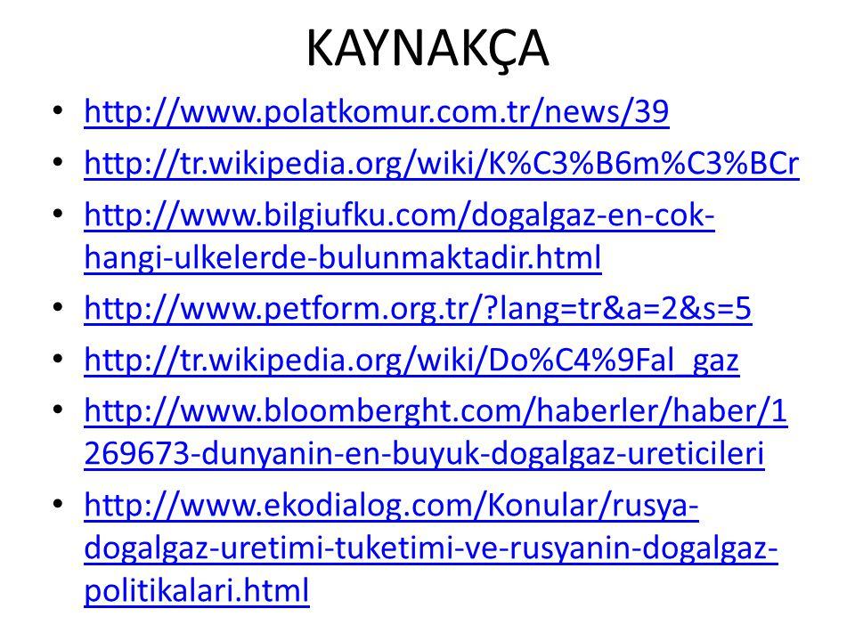KAYNAKÇA http://www.polatkomur.com.tr/news/39