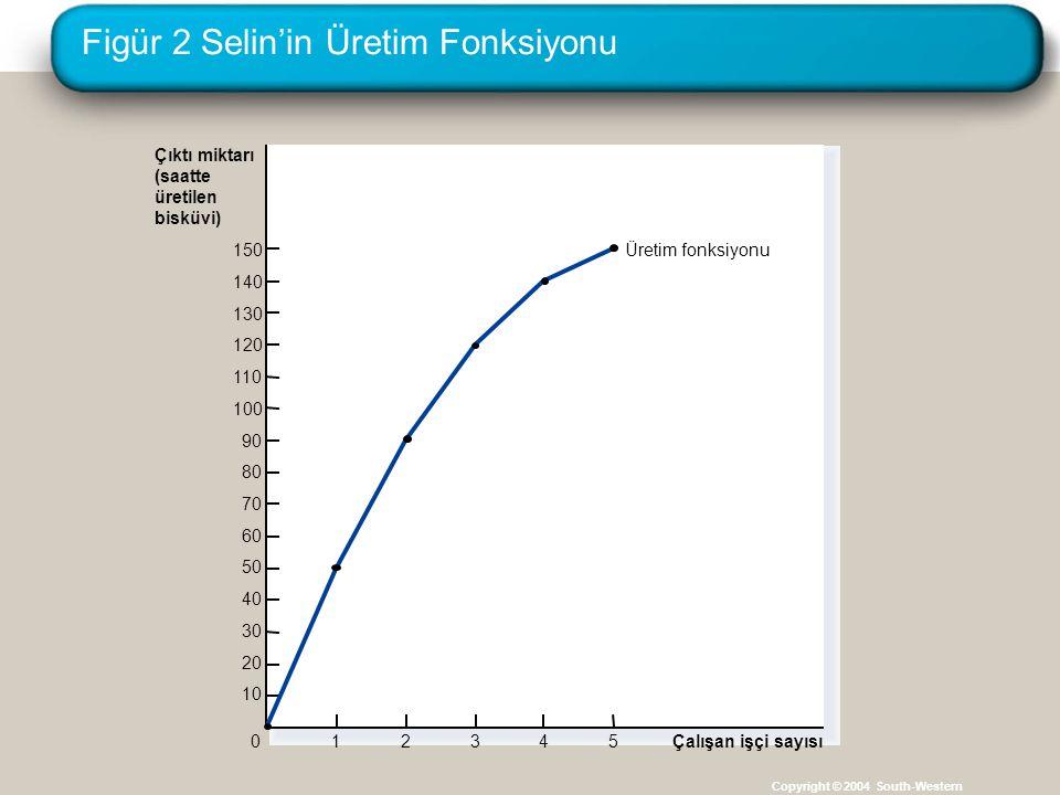 Figür 2 Selin'in Üretim Fonksiyonu