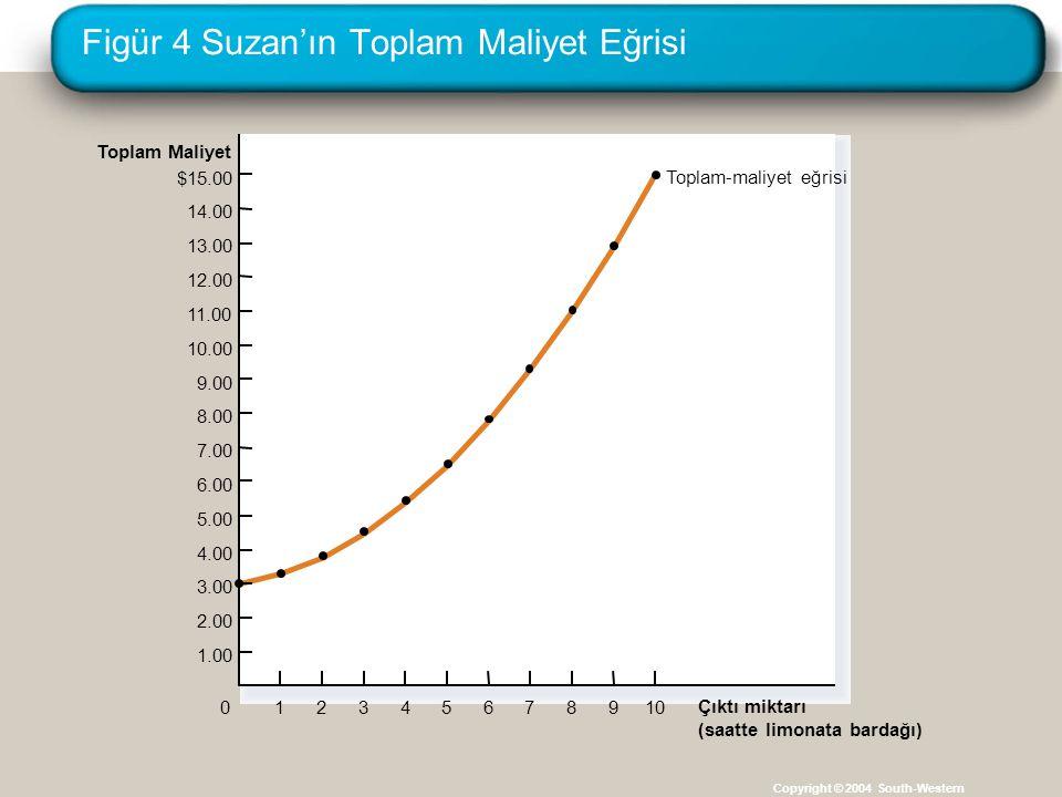 Figür 4 Suzan'ın Toplam Maliyet Eğrisi