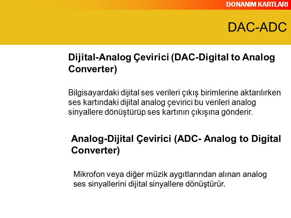 DAC-ADC Dijital-Analog Çevirici (DAC-Digital to Analog Converter)