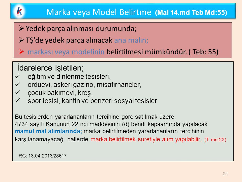 Marka veya Model Belirtme (Mal 14.md Teb Md:55)