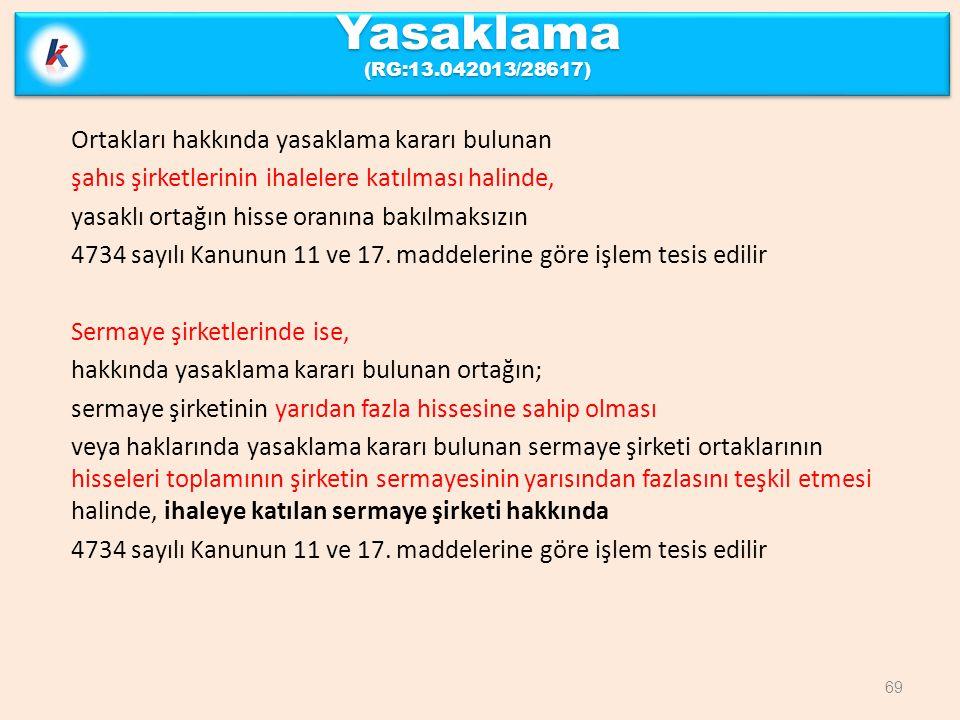 Yasaklama (RG:13.042013/28617)