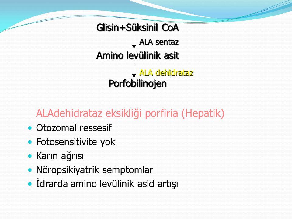 ALAdehidrataz eksikliği porfiria (Hepatik)