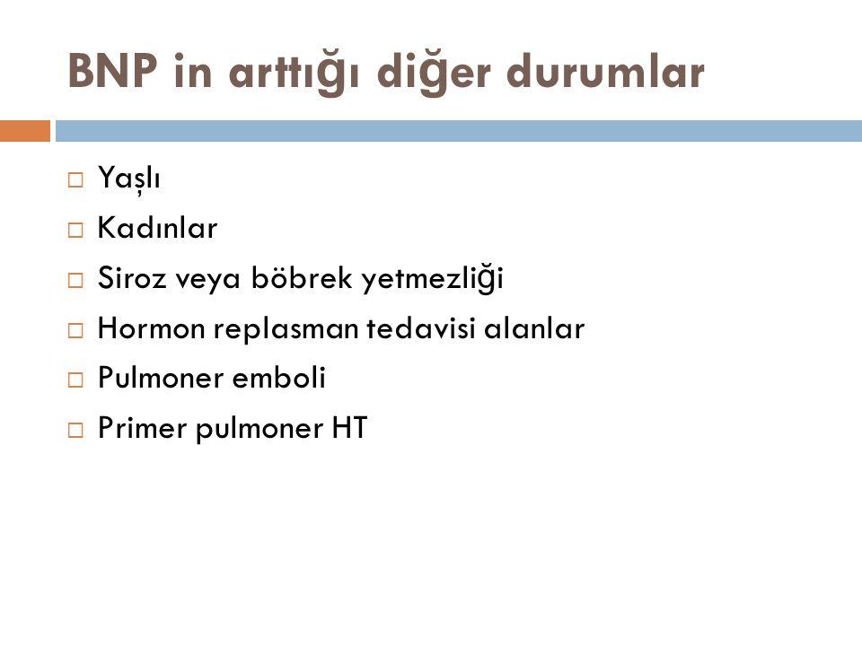 BNP in arttığı diğer durumlar