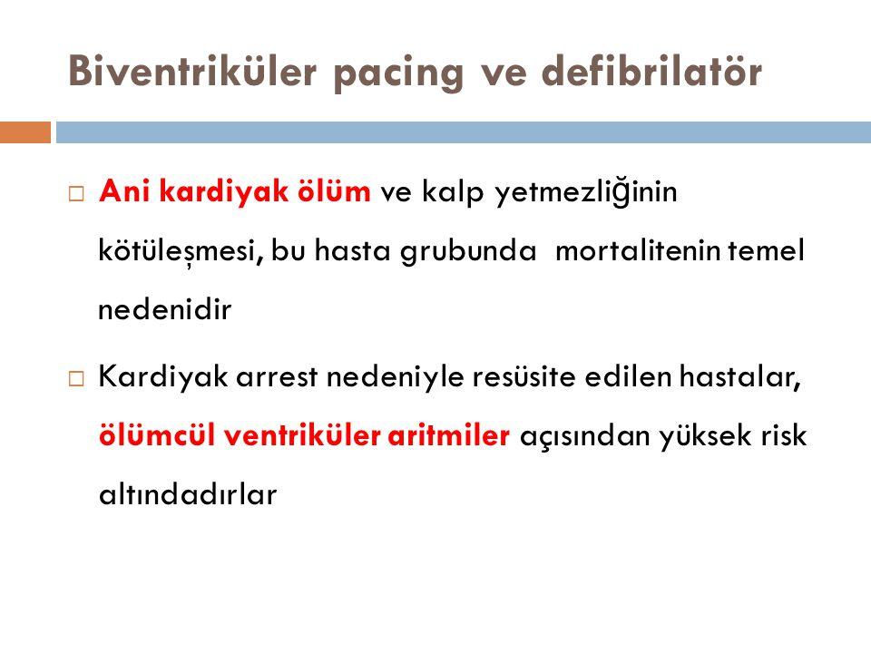 Biventriküler pacing ve defibrilatör