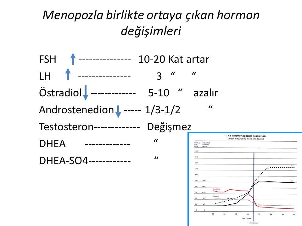 Menopozla birlikte ortaya çıkan hormon değişimleri
