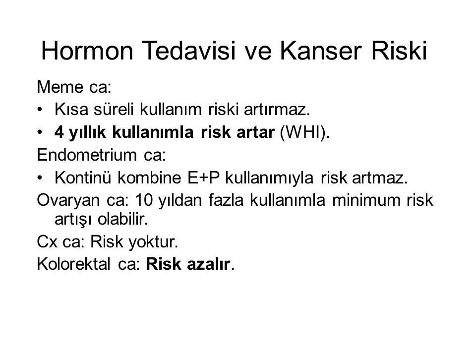 Hormon Tedavisi ve Kanser Riski
