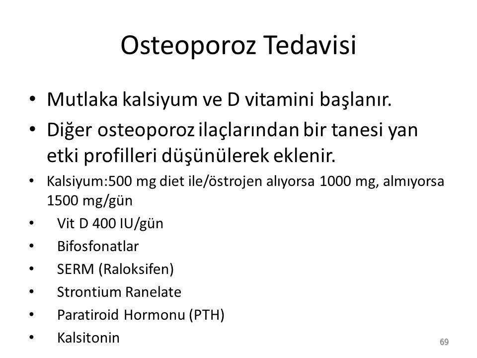 Osteoporoz Tedavisi Mutlaka kalsiyum ve D vitamini başlanır.