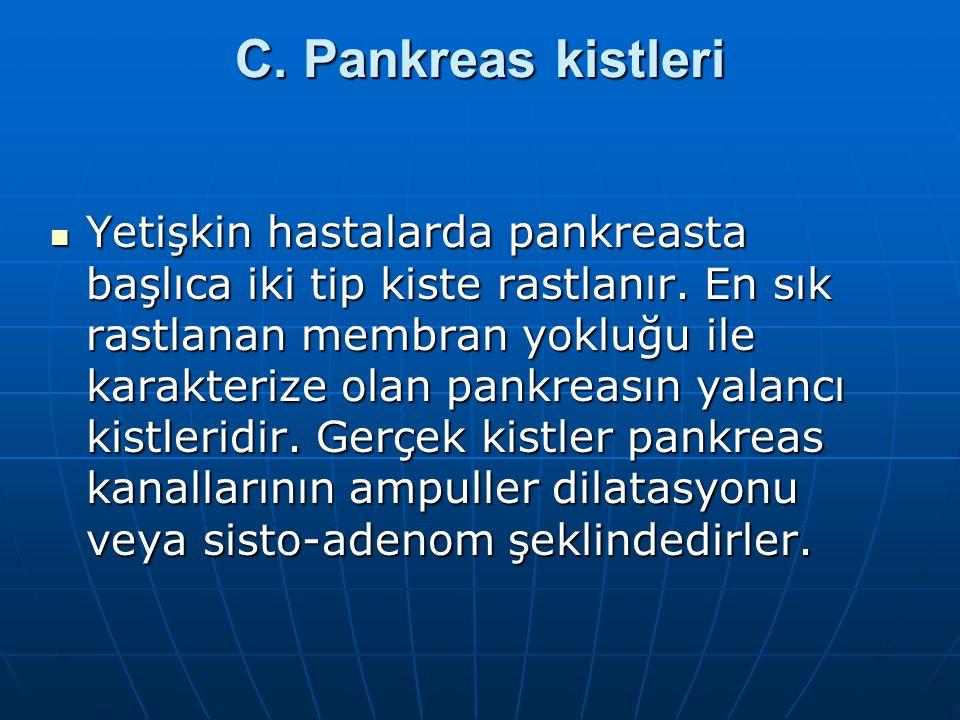 C. Pankreas kistleri
