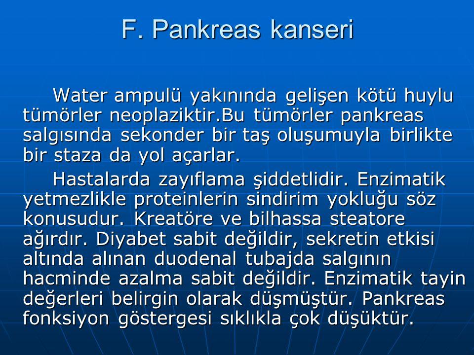 F. Pankreas kanseri