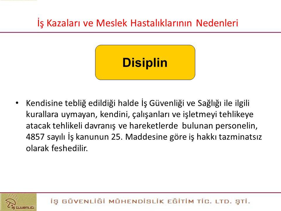 39 39 Disiplin İş Kazaları ve Meslek Hastalıklarının Nedenleri