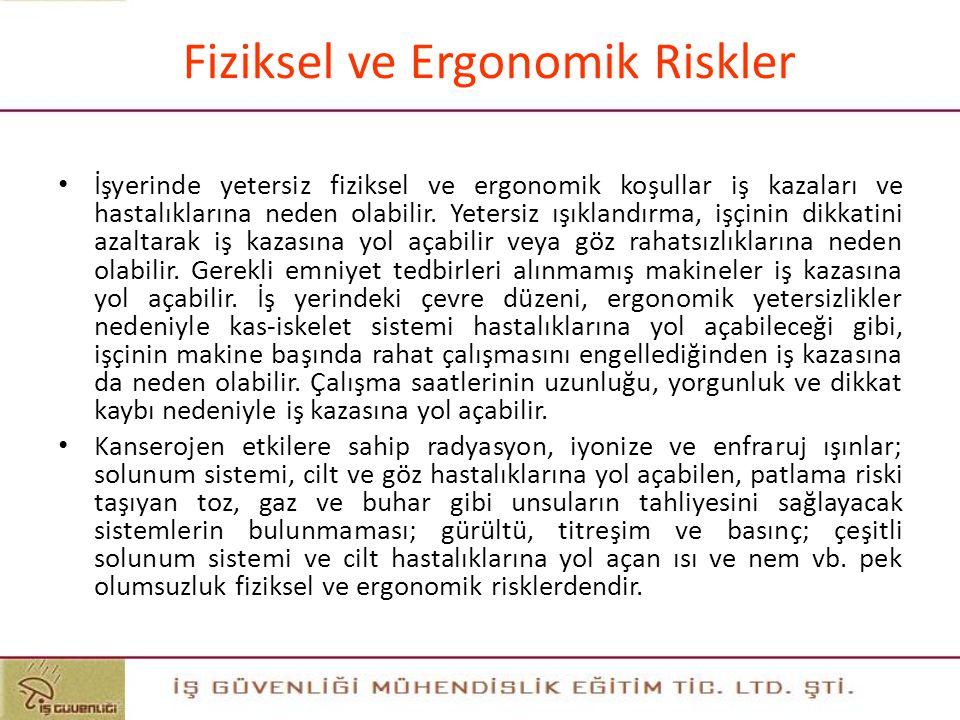 Fiziksel ve Ergonomik Riskler