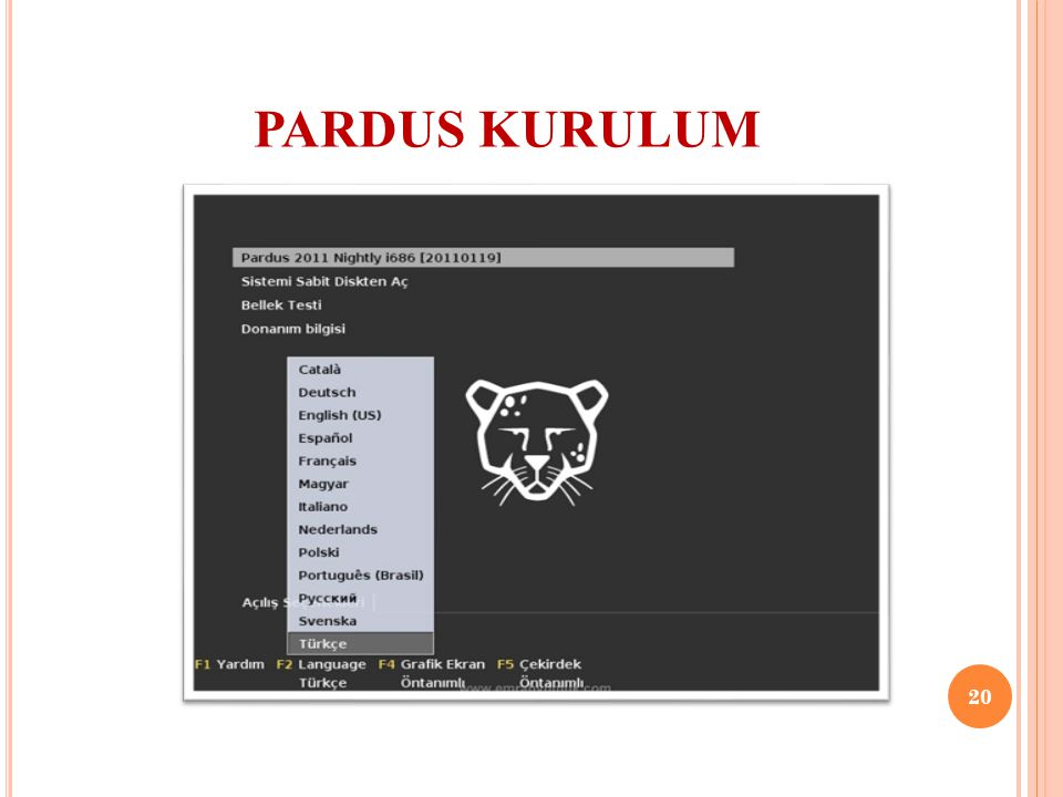 PARDUS KURULUM