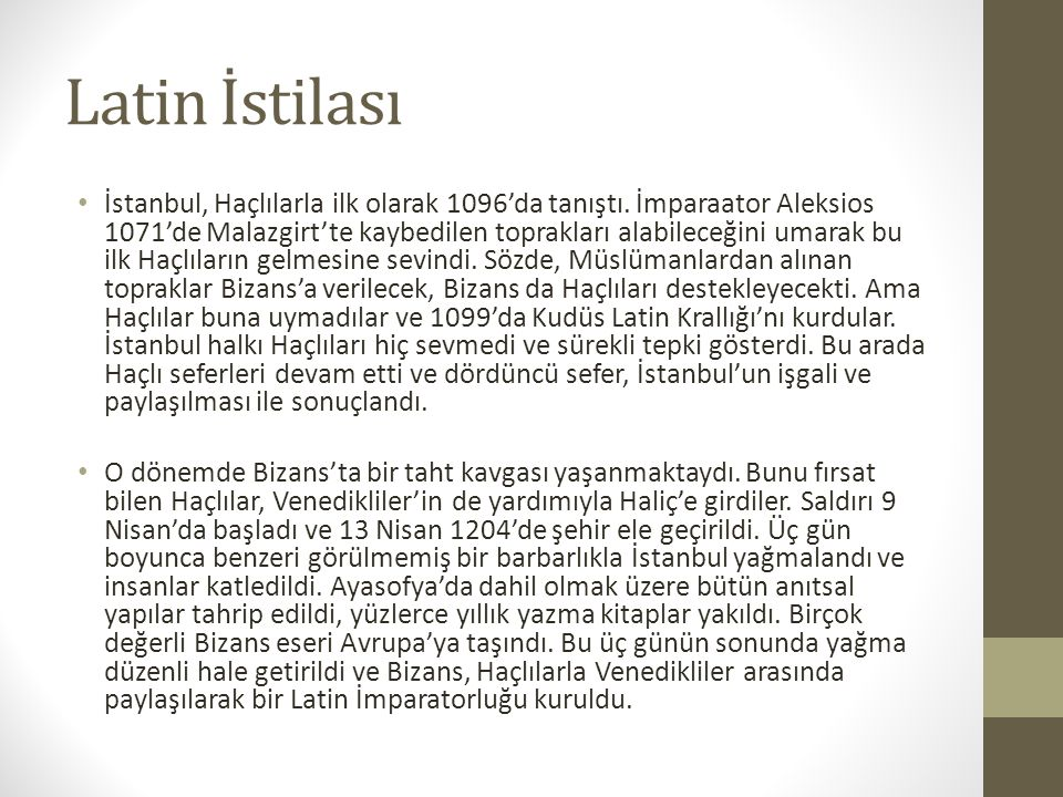 Latin İstilası