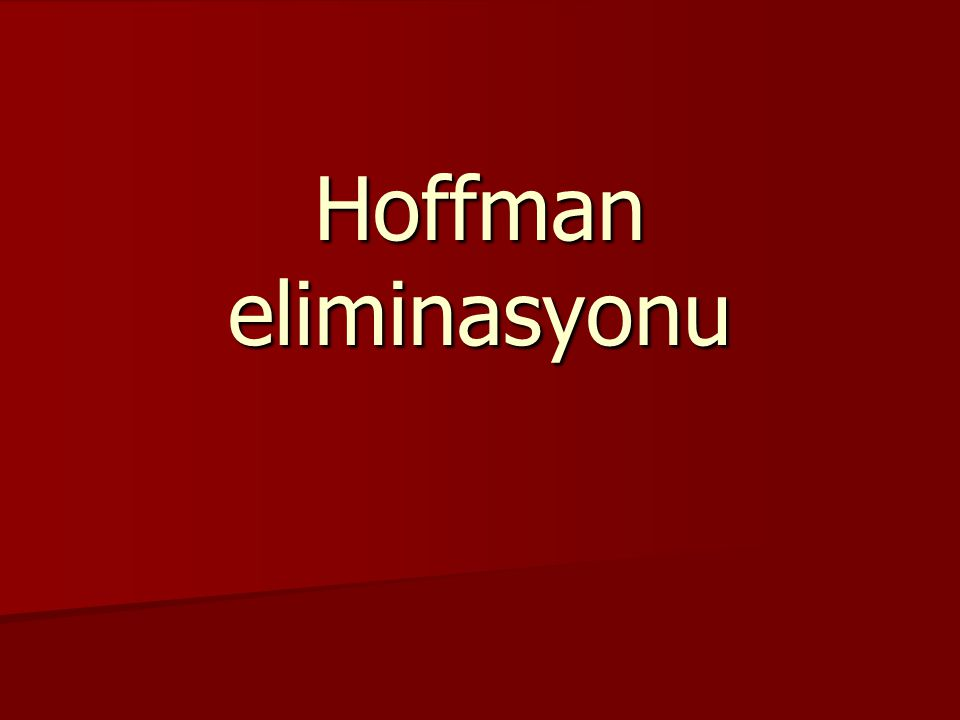 Hoffman eliminasyonu