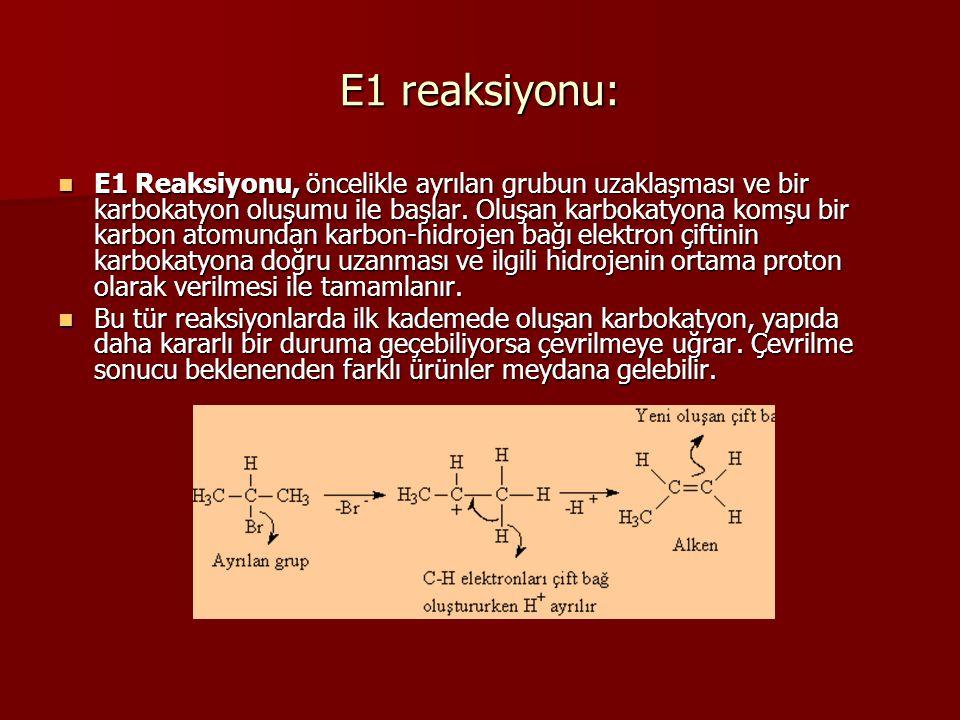 E1 reaksiyonu: