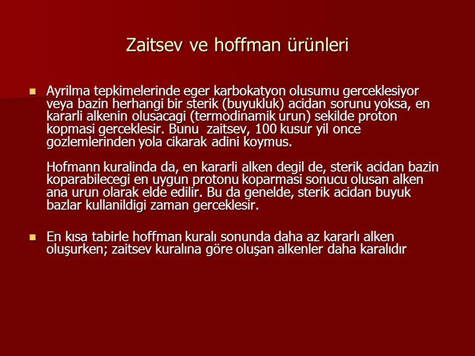 Zaitsev ve hoffman ürünleri