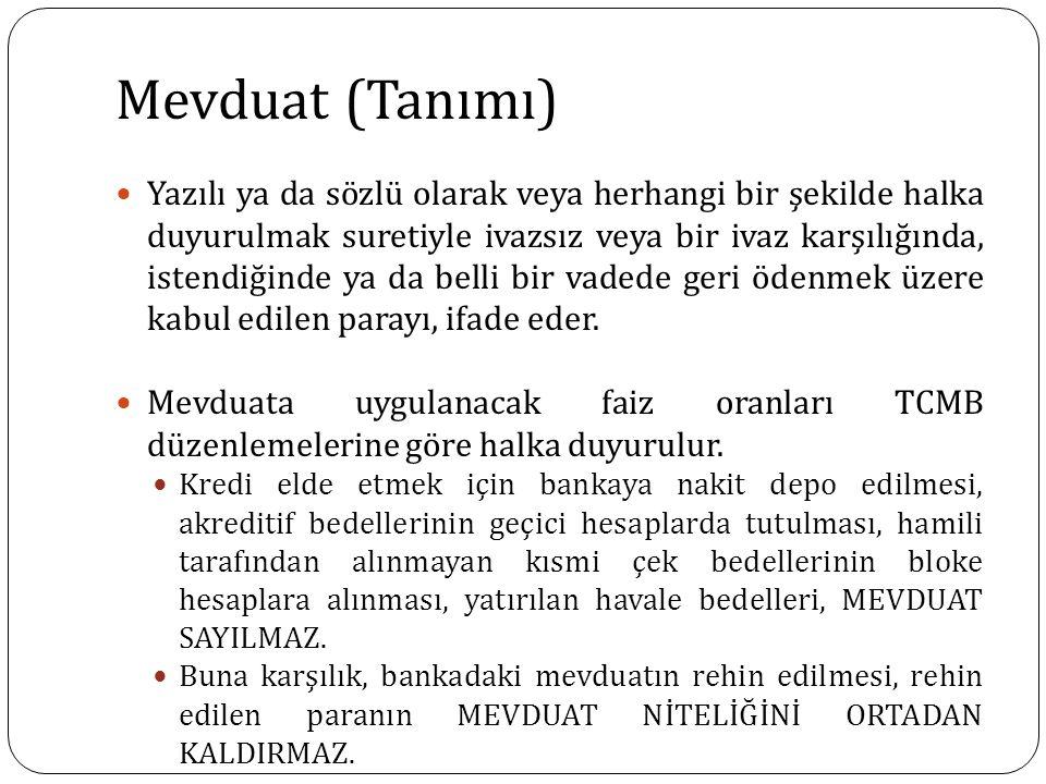 Mevduat (Tanımı)