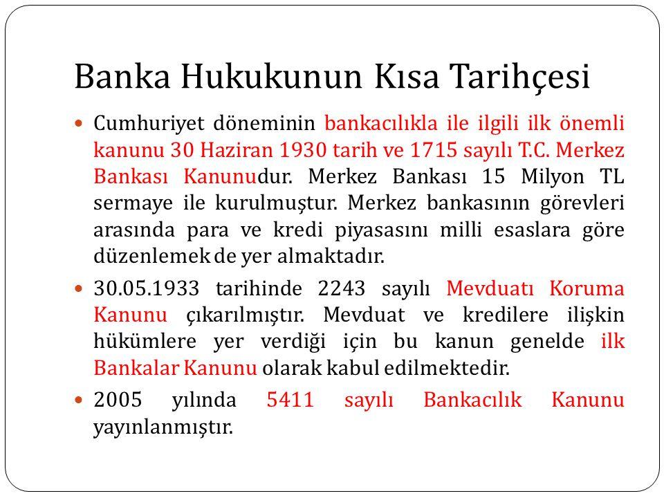 Banka Hukukunun Kısa Tarihçesi
