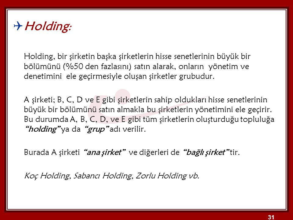 Holding: