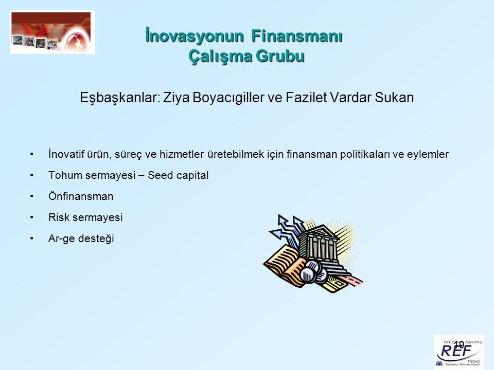 İnovasyonun Finansmanı Çalışma Grubu
