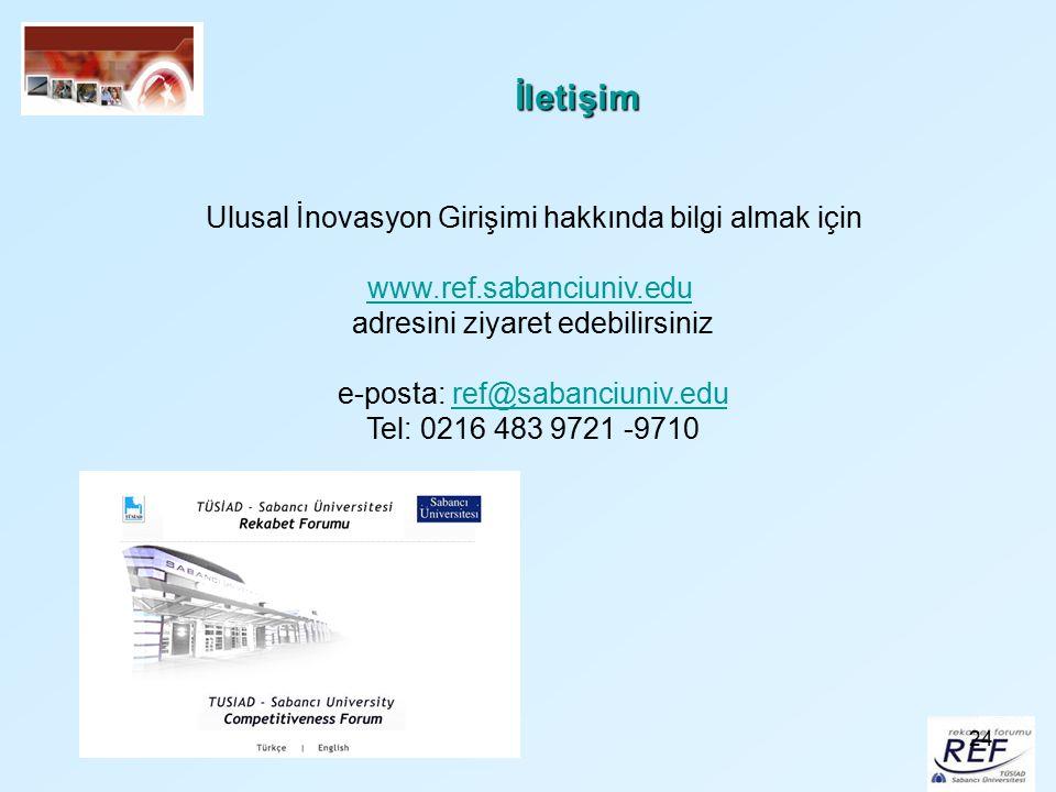 İletişim Ulusal İnovasyon Girişimi hakkında bilgi almak için