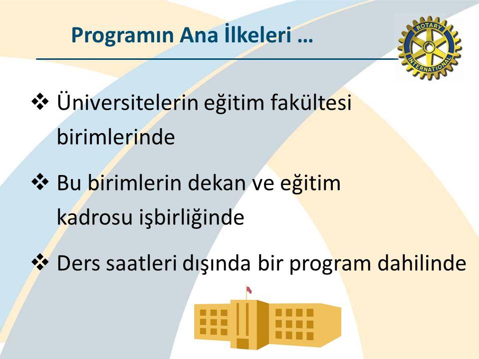 Programın Ana İlkeleri …