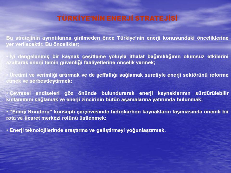 TÜRKİYE'NİN ENERJİ STRATEJİSİ