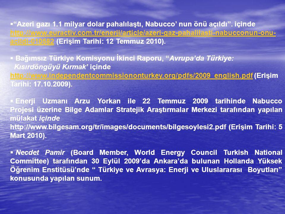 Azeri gazı 1. 1 milyar dolar pahalılaştı, Nabucco' nun önü açıldı
