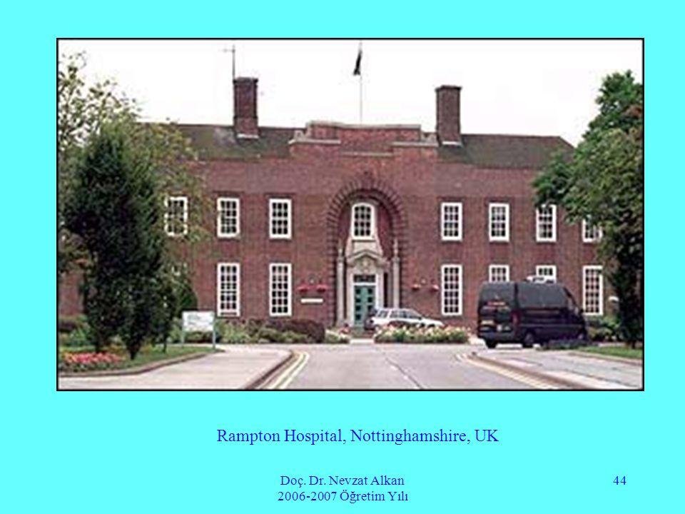 Rampton Hospital, Nottinghamshire, UK
