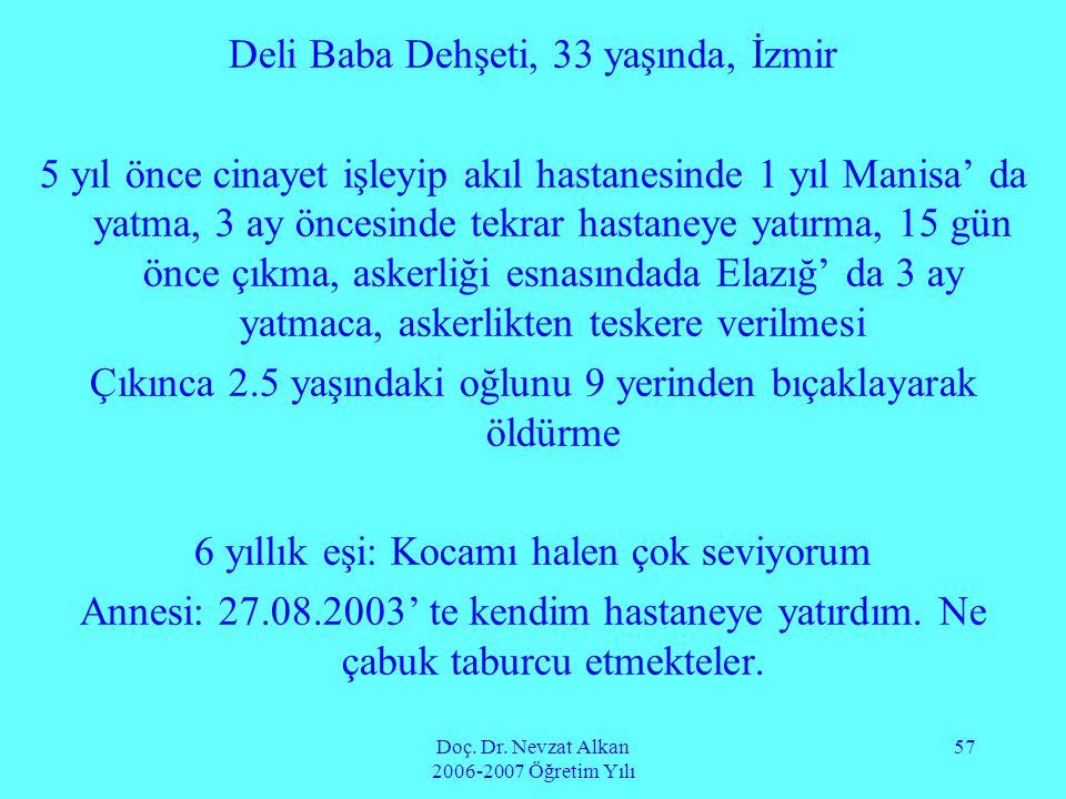Deli Baba Dehşeti, 33 yaşında, İzmir