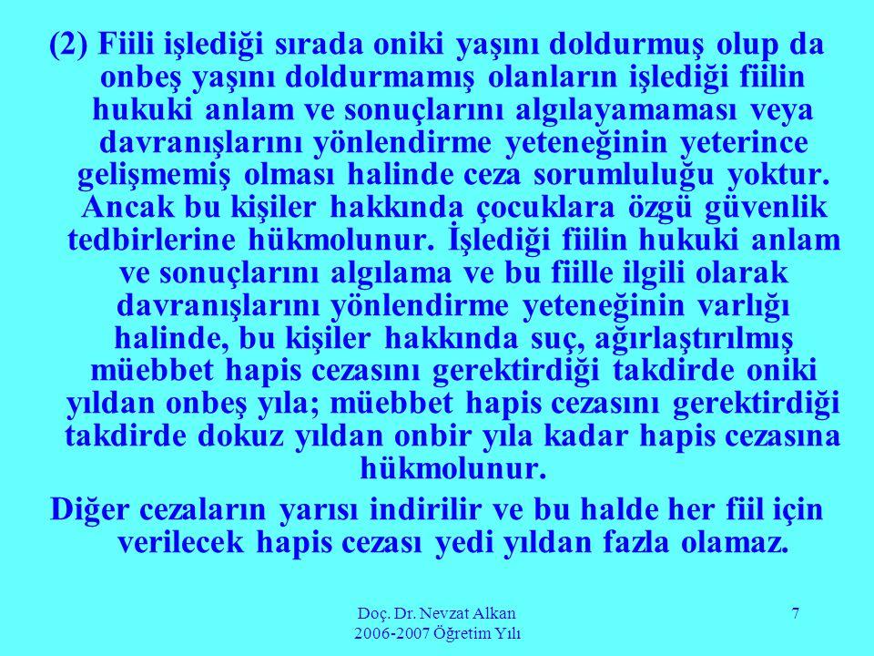 Doç. Dr. Nevzat Alkan 2006-2007 Öğretim Yılı